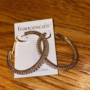 Francesca's Diamond Hoops NEVER WORN